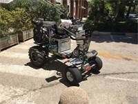 """רכב החילוץ וההצלה שפותח באוניברסיטת אריאל/צילום: יח""""צ"""