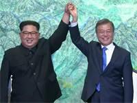 מנהיגי צפון ודרום קוריאה בשיחות הפיוס / צילום: רויטרס