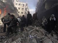 התקיפה בסוריה / צילום: מוחמד ברדה, רויטס
