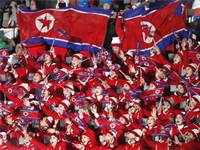 מעודדות של צפון קוריאה בטקס הפתיחה של אולימפיאדת החורף/ צילום: רויטרס