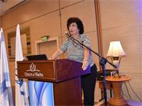 השופטת פרופ' דפנה ברק ארז בהרצאתה בכנס חדלות פירעון של לשכת עורכי הדין באילת. צילום- פוטו מרסלו דובר