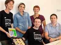 צוות הפיתוח של אפליקציית מחשבון לילדים עם מוגבלות / צילום: אורי ניצן