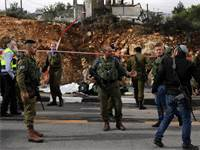 זירת הירי בצומת בית אסף / צילום: רויטרס