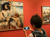 תערוכות אינטראקטיביות, משחקי אפליקציה במוזיאון בבית ראובן, / צילום: נטע אלונים