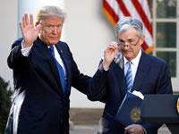 ג'רום פאוול ודונלד טראמפ / צילום: רויטרס - Carlos Barria