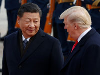 """נשיאי ארה""""ב וסין טראמפ ושי/ צילום: רויטרס Damir Sagolj"""