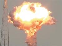 פיצוץ עמוס 6 בזמן ההמראה / צילום מסך