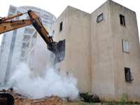 הריסת בניין/ צילום:תמר מצפי