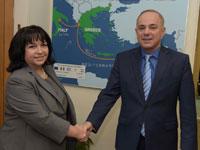 שר האנרגיה והשרה מבולגריה / צילום: : שלומי אמסלם