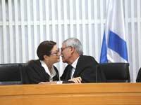 השופט אורי שהם והנשיאה אסתר חיות / צילום: יוסי זמיר