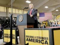 הנשיא טראמפ באוהיו / צילום: רויטרס