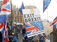 הפגנה בלונדון נגד הברקזיט / צילום: רויטרס, Peter Nicholls