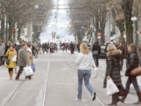 רחוב הקניות בצירך / צילום: צילום: רויטרס, Arnd Wiegmann