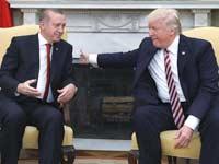 הנשיא טראמפ והנשיא  ארדואן בבית הלבן/ צילום: רויטרס, Kevin Lamarque