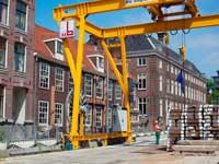 ע בודות בניה באמסטרדם / צילום:רויטרס