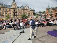 מנהיג המפלגה הימנית קיצונית השבדית/ צילום: רויטרס