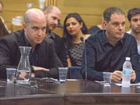 """גיל עומר  יו""""ר מועצת התאגיד, ואלדד קובלנץ, המנכ""""ל. / צילום: דוברות הכנסת - יצחק הררי"""