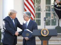 הנשיא טראמפ וג'רום פאוול/  צילום: רויטרס Carlos Barria