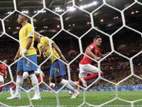 ברזיל נגד שוויץ /צילום: רויטרס, Marko Djurica