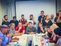 עובדי ערוץ עשר בישיבת המועצה / צילום: שלומי יוסף