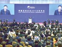 הנשיא שי ג'ינפינג בנאום  / צילום:רויטרס