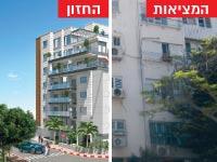 התחדשות עירונית / צילום: אורבן נדלן; הדמיה: ARTMODELS הדמיות ותלת מימד