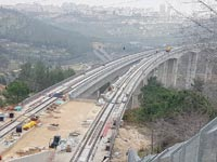 עבודות בקו המהיר לירושלים / צילום: עמירם ברקת