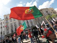 הפגנות 1 במאי בליסבון /רויטרס Rafael Marchante