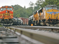 רכבות של יוניון פסיפיק בטקסס  /  צילום: רויטרס