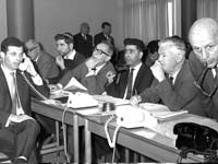 יום מסחר בבורסה  ב1968 / צילום: משה מילנר לעמ