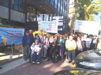 הפגנת הדיירים נגד הבנייה / צילום: רוזנטל תקשורת