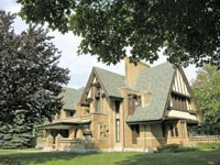 בית מגורים שתכנן פרנק לויק רייט. / צילום: שאטרסטוק