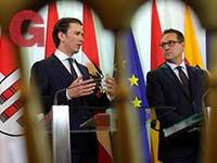 הקנצלר האוסטרי קורץ (משמאל) וסגנו שטארכה / צילום: רויטרס - Heinz-Peter Bader