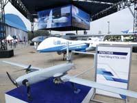 """ביתן המל""""טים של התעשייה האווירית בתערוכה בהודו/ צילום: אתר החברה"""