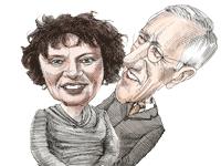 סטנלי פישר וקרנית פלוג /  איור: גיל ג'יבלי