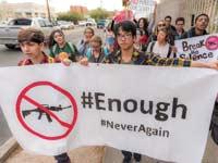 הפגנת תלמידים בעקבות הטבח בפארקלנד/ צילום: Shutterstock : א.ס.א.פ קרייטיב