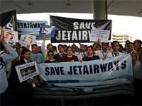 הפגנה של עובדי ג'ט איירוויז / צילום: Anushree Fadnavis, רויטרס