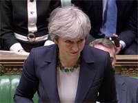 תרזה מיי, ראשת ממשלת בריטניה, נואמת בפרלמנט / צילום: Reuters TV