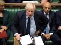 ראש ממשלת בוריס ג'ונסון בהצבעת הפרלמנט אתמול / צילום: Jessica Taylor, רויטרס