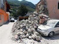 נזקי רעידת האדמה באיסקיה שבאיטליה, 2017 / צילום: רויטרס