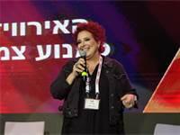 טלי אשכולי, המפיקה הראשית של אירועי האירוויזיון, באירוע ECONOVISION / צילום: שלומי יוסף