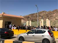 ממתינים במעבר הגבול טאבה / צילום: בר לביא, גלובס