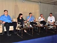 מימין: יגאל נבו, פורום הבלוקצ׳יין, אלי בז'רנו, Bit2C, מני רוזנפלד, איגוד הביטקוין, גל לנדאו יערי, מכ