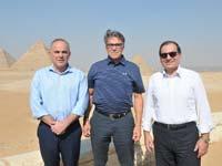 """טארק אל מולא ריק פרי ויובל שטייניץ. שרי האנרגיה של מצרים, ארה""""ב וישראל/  צילום: עומר הכהן"""