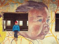 גלריה מינוס 430 בכניסה לחוף קליה ציורי גרפיטי  / צילום: יותם יעקובסון