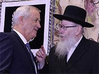"""יעקב ליצמן ובני גנץ / צילום: דוברות הכנסת, יח""""צ"""