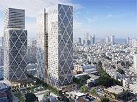 """פרויקט המשרדים והמגורים Landmark Tel Aviv ברחוב הארבעה / הדמיה: יח""""צ"""