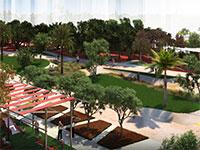 """הפארק בשכונת """"מגדלים בשדרה""""  / הדמיה: ברוס לוין"""