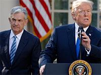 "נשיא ארה""ב, דונלד טראמפ, ויו""ר הפדרל ריזרב, ג'רום פאואל / צילום: Carlos Barria, רויטרס"