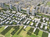 """הדמיה- תכנית מזרח רחובות ותמ""""ל / צילום: מנדי רוזנפלד אדריכלים"""